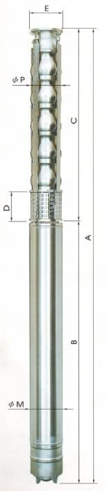 10, 12 Inch Stainless Steel Submersible Pumps AC Series 15 HP -100HP